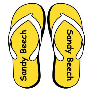 Flip Flop Shoe Labels