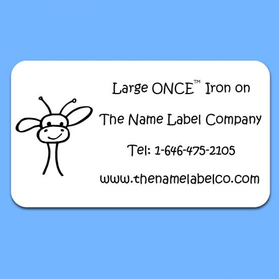 Camp Large ONCE™ Iron on Label
