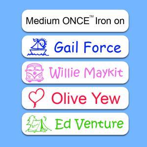 Camp Medium ONCE™ Iron on Label