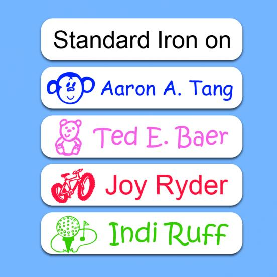Camp Standard Iron on  Name Labels