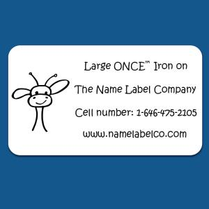 Large ONCE™ Iron on Label
