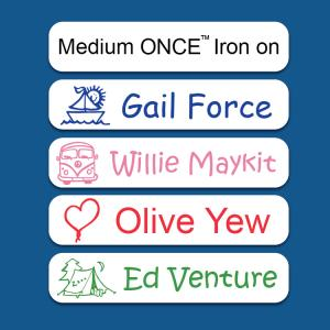 Medium ONCE™ Iron on Label