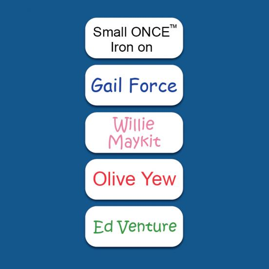 Small ONCE™ Iron on Label
