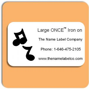 School Large ONCE™ Iron on Label