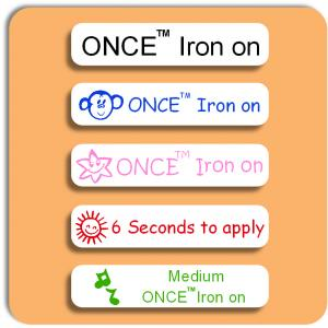 School Medium ONCE™ Iron on Label