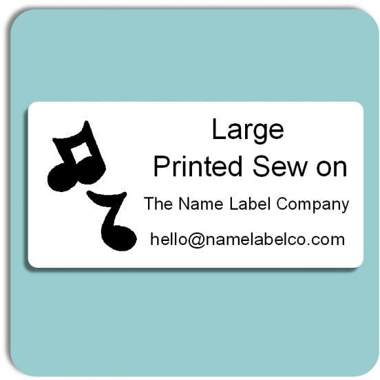 School Large Printed Sew on Label