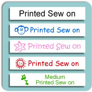 School Medium Printed Sew on Label
