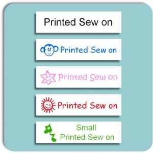 School Small Printed Sew on Label