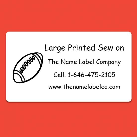 Camp Large Printed Sew on Label