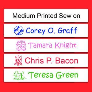 Camp Medium Printed Sew on Label
