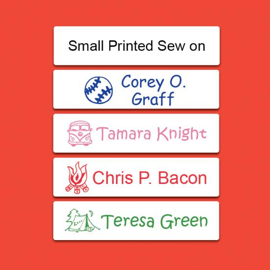 Camp Small Printed Sew on Label
