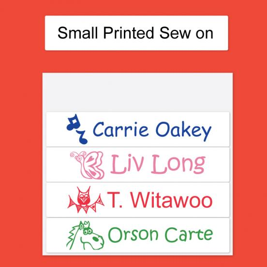 Small Printed Sew on Label
