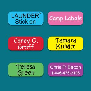 Camp Color LAUNDER™ Clothing Label